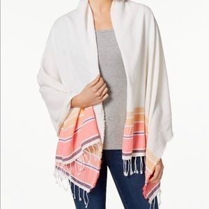 Collection XIIX Beach Stripe Wrap Scarf Pink
